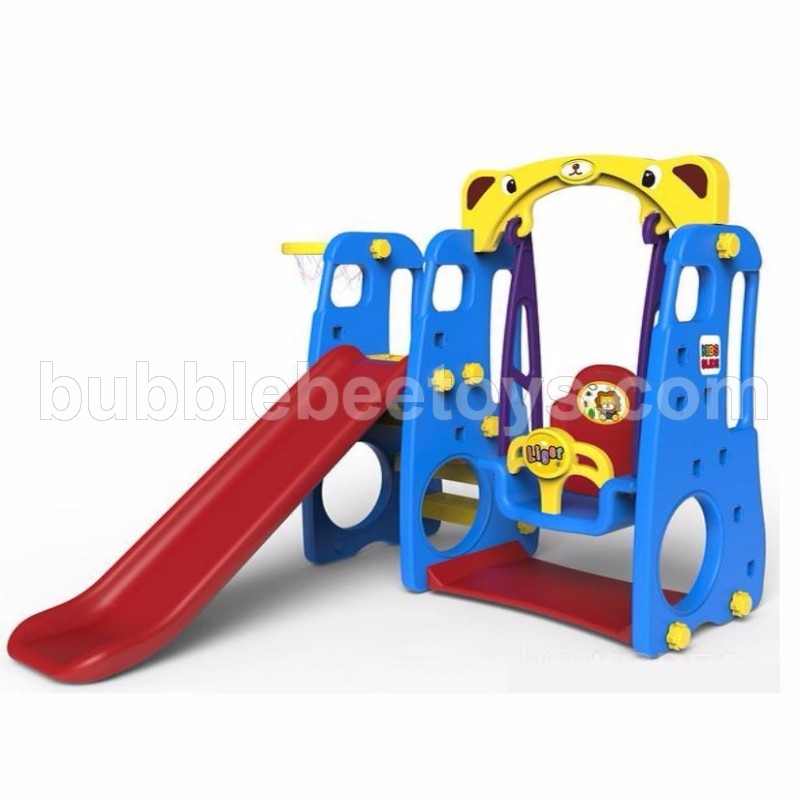 Kids 4 in 1 Slide With Swing